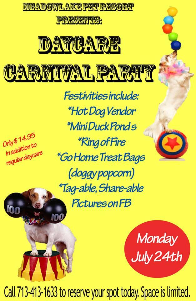 dog daycare carnival